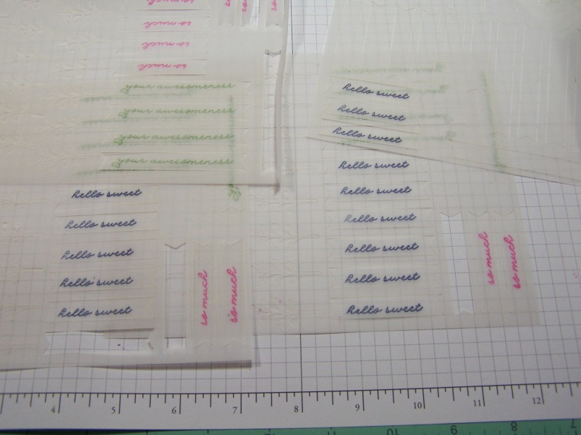 Pre Stamp ALL the Vellum...it takes longer to dry than paper!